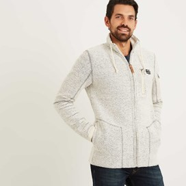 Nordell Full Zip Technical Macaroni Jacket  Ecru