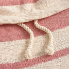 Clio Slouch Neck Stripe Knit Pale Pink