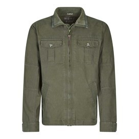 Arras Lightweight Harrington Jacket Dark Olive