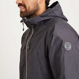 Prescott Fully Waterproof Hooded Jacket Coal
