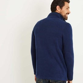 Beeckman Quilted Soft Knit Jacket Maritime Blue