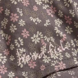 Rhode Long Sleeve Print Woven Top Mid Grey