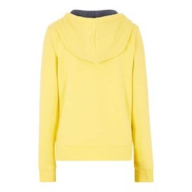 Polly Full Zip Applique Hoodie Lemon Yellow