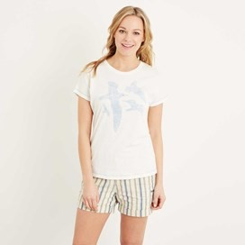 Seagull Graphic T-Shirt Light Cream