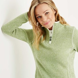 Vogel 1/4 Zip Soft Knit Fleece Lime