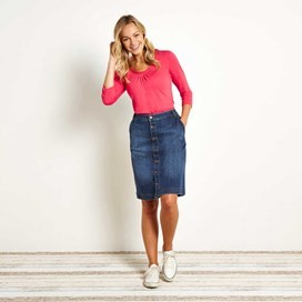 Vixey Denim Skirt Dark Blue
