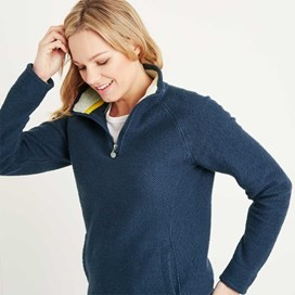 Augusta 1/4 Zip Siera Knit Sweatshirt Midnight