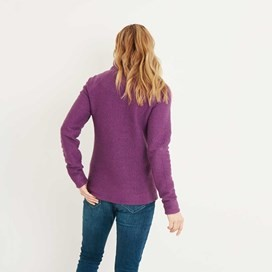 Augusta 1/4 Zip Siera Knit Sweatshirt Mulberry