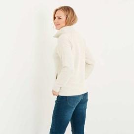 Augusta 1/4 Zip Siera Knit Sweatshirt Ivory