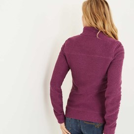 Eartha Full Zip Seira Soft Knit Jacket Mulberry