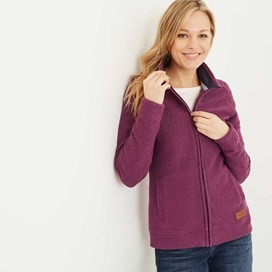 Eartha Full Zip Siera Soft Knit Jacket Mulberry
