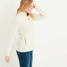 Eartha Full Zip Seira Soft Knit Jacket Ivory