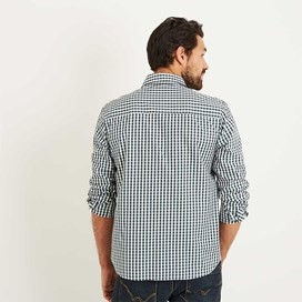 Lougheed Long Sleeve Mini Check Shirt Evergreen