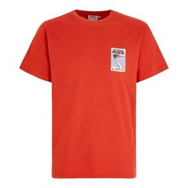 Swan Flew Artist T-Shirt Tango Red