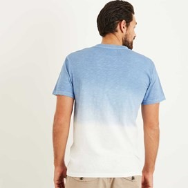 Onslow Graphic Print Dip Dyed T-Shirt Pale Denim