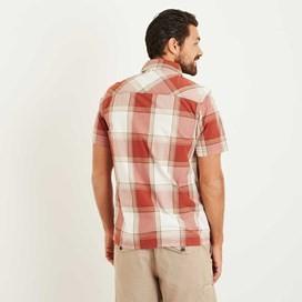 Trevelyan Micro Sanded Short Sleeve Check Shirt Baked Apple