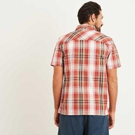 Darros Slub Short Sleeve Check Shirt Baked Apple