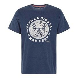 Carlo Graphic Print T-Shirt Maritime Blue Marl