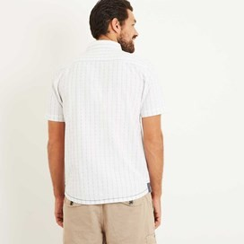 Harmon Stripe Dobby Shirt Off White