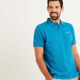 Saltash Rib Collar Pique Polo Shirt Blue Jay