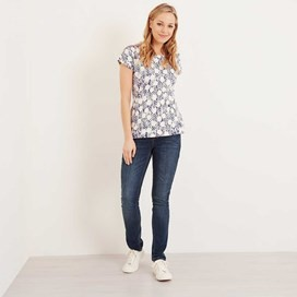 Paw Paw Printed Jersey T-Shirt Dark Denim