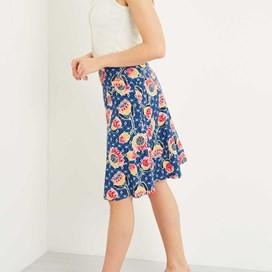 Malmo Printed Jersey Skirt Dark Navy