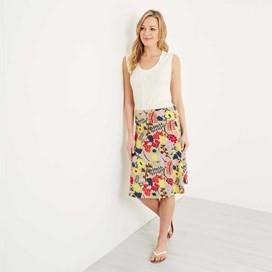 Malmo Printed Jersey Skirt Sand Dune