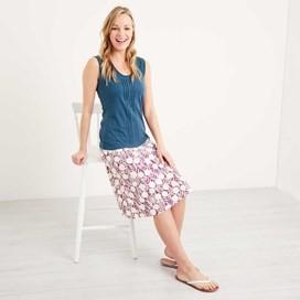 Malmo Printed Jersey Skirt Boysenberry