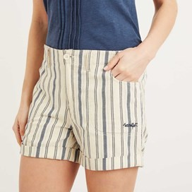 Yasmin Stripe Short Light Cream