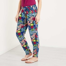 Nimbus Lightweight Printed Harem Trouser Dusty Teal