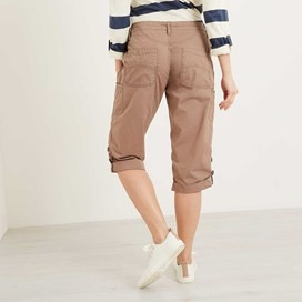 Savannah Cotton 3/4 Length Utility Trouser Walnut