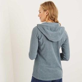 Amara Pinstripe Full Zip Fleece Hoodie Citadel