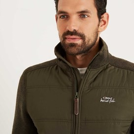 Beeckman Quilted Soft Knit Jacket Dark Olive