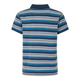 Bolam Stripe Polo Dusty Teal