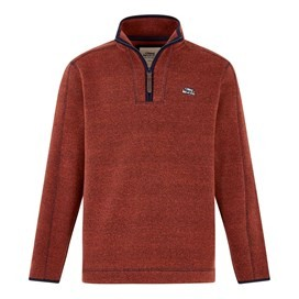 Talas 1/4 Zip Soft Knit Top  Brick Red
