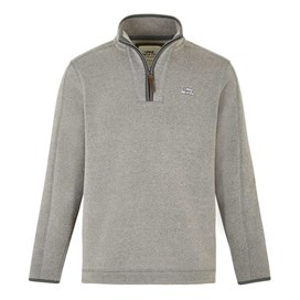 Talas 1/4 Zip Soft Knit Top  Pewter