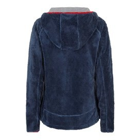 Roxanne Fur Knit Fleece Hoodie Dark Denim