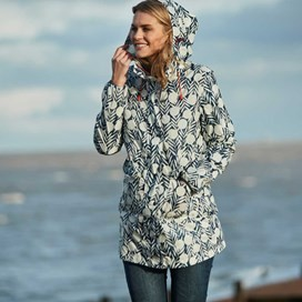 Chiku Printed Fully Waterproof Jacket Dark Denim