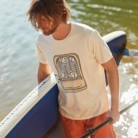 Sardines Graphic Print T-Shirt Marshmallow Marl