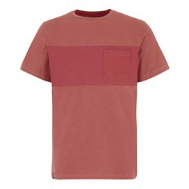 Jenthe Printed Chest Stripe T-Shirt Brick Red