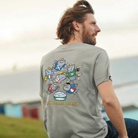 Six Oceans Artist T-Shirt Grey Marl