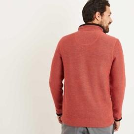 Bowline 1/4 Zip Technical Macaroni Sweatshirt Brick Red