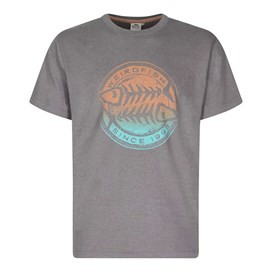 Gradient Bones Graphic Print T-Shirt Pewter Marl