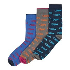 3 Pack Classic Bones Socks Multi