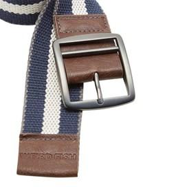 Rumble Striped Fabric Webbing Belt Maritime Blue