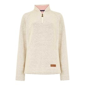 Augusta 1/4 Zip Siera Knit Light Cream