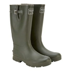 Kemnay Branded Wellington Boot Dark Olive