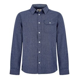 Kris Long Sleeve Mini Gingham Shirt Maritime Blue