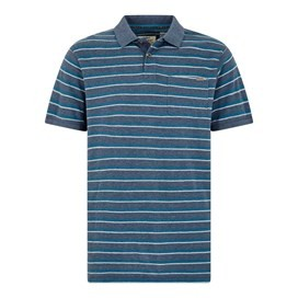 Belsay Stripe Polo Dusty Teal