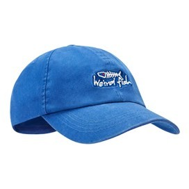 Retro Bones Embroidered Cap Deep Ocean
